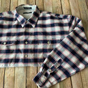 Guess classic sportswear large plaid button down